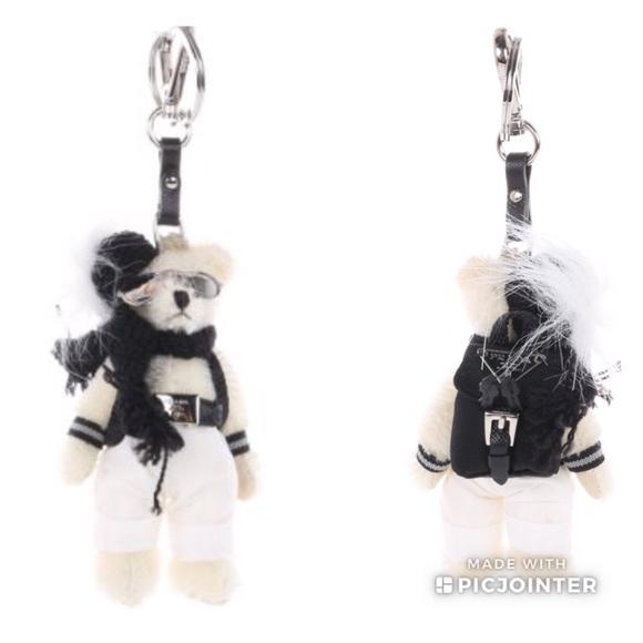eafc5a18c659 Prada Franz Teddy Bear Keychain Bag Charm